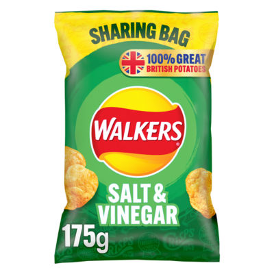 Walkers Salt & Vinegar Sharing Crisps