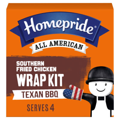 Homepride All American Southern Fried Chicken Texan BBQ Wrap Kit