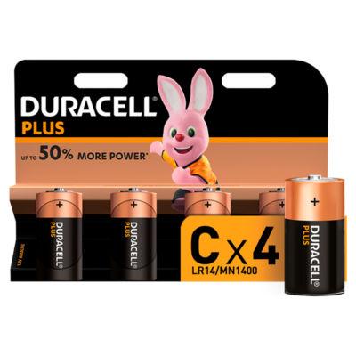 Duracell Plus Alkaline C Batteries