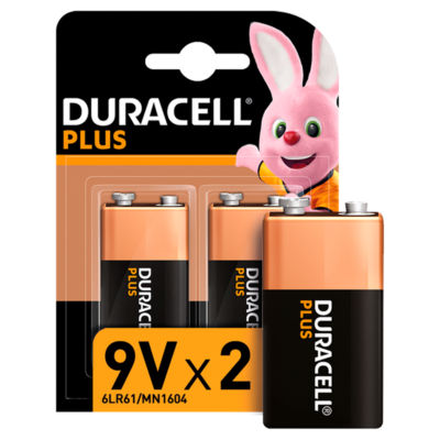 Duracell Plus Alkaline 9V Batteries