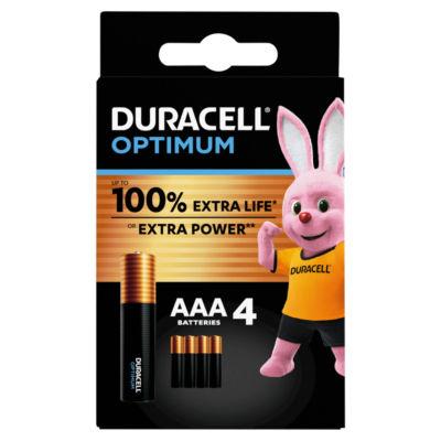 Duracell Optimum AAA Batteries Pack of 4