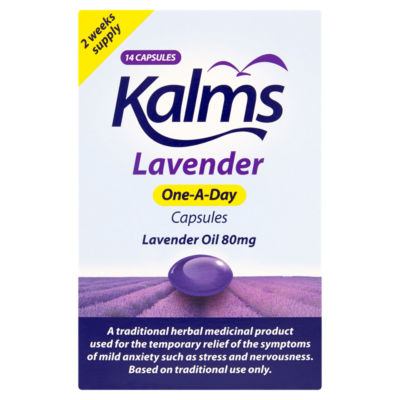 Kalms One-A-Day Lavender Oil 80mg 14 Capsules