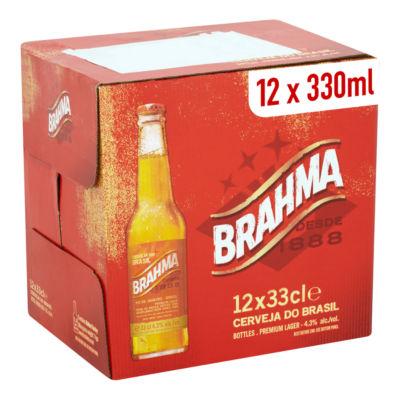Brahma Brazilian Lager Beer Bottles