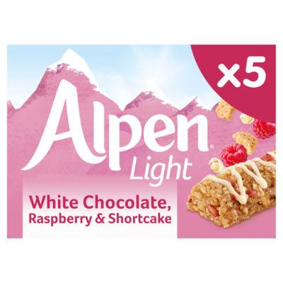 Alpen Light Cereal Bars White Chocolate, Raspberry and Shortcake
