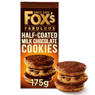 Fox's Fabulous Half Coated Milk Chocolate Cookies