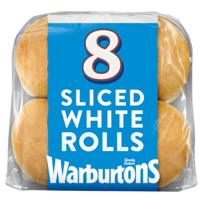 Warburtons Soft White Sliced Rolls