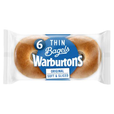 ASDA > Fresh Food > Warburtons Thin Bagels Plain