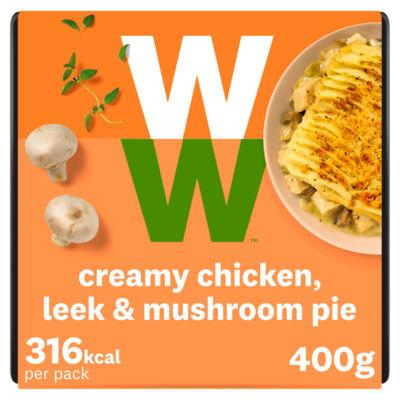 Weight Watchers Chicken Leek & Mushroom Pie
