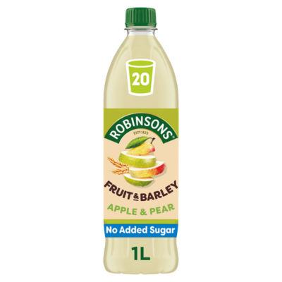 Robinsons Fruit & Barley Apple & Pear Squash No Added Sugar