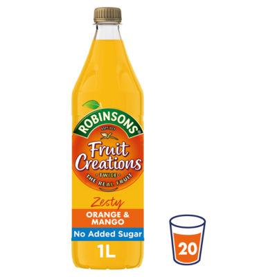 Robinsons Fruit Creations Zesty Orange & Mango Squash