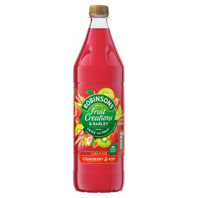 Robinsons Fruit Creations & Barley Luscious Strawberry & Kiwi Squash