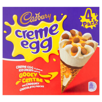 Cadbury Creme Egg Ice Creams 4 Pack