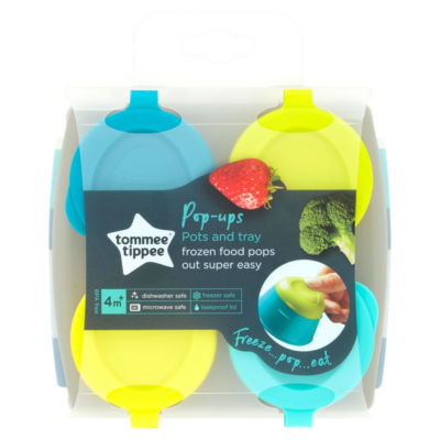 Tommee Tippee Explora Pop Up Freezer Pots & Tray 4m+ Weaning
