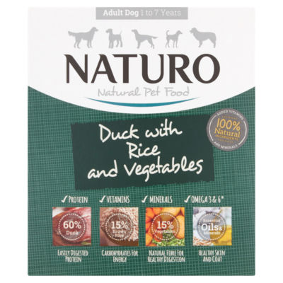 Naturo Duck & Rice with Vegetables Adult Dog Food Tray
