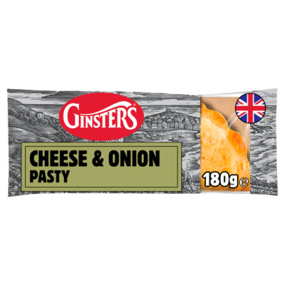 Ginsters Cornish Cheddar & Caramelised Onion Pasty