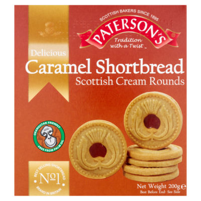 Paterson's Delicious Caramel Shortbread Scottish Cream Rounds