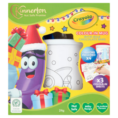 Kinnerton Crayola Colour-in Mug with Milk Chocolate Bars