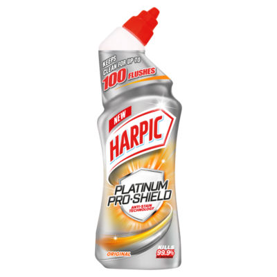 ASDA > Household > Harpic Platinum Pro Shield Toilet Cleaner, Original Scent