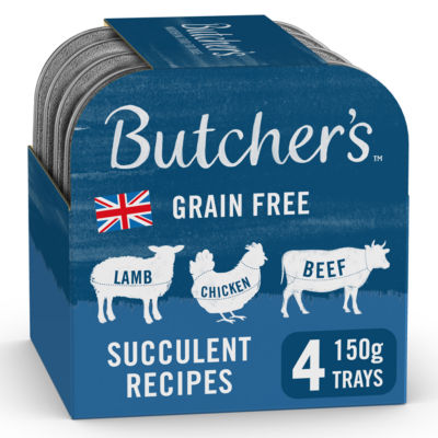 Butcher's Succulent Recipes Grain Free Adult Dog Food Trays