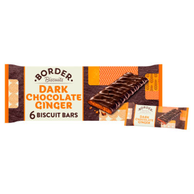 Border Six Dark Chocolate Ginger Biscuits