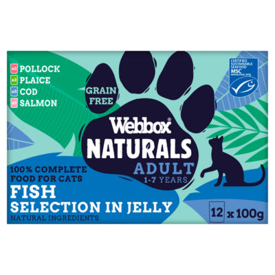 Webbox Premium Natural Fish Selection in Jelly Adult Cat Food Pouches