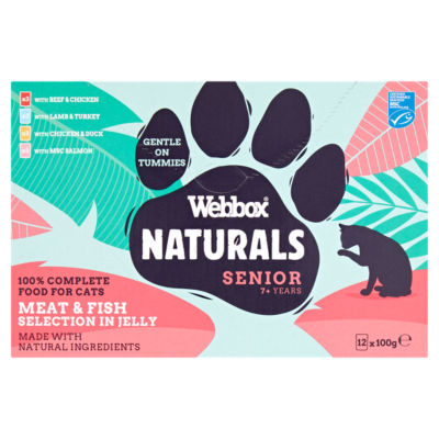 Webbox Premium Natural Selection in Jelly Senior Cat Food Pouches