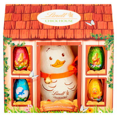 Lindt Milk Chocolate Chick with 4 Chocolate Eggs