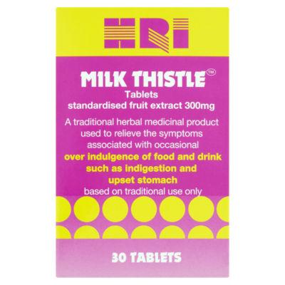HRI Milk Thistle Tablets Standardised Fruit Extract 300mg