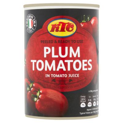 KTC Plum Tomatoes in Tomato Juice