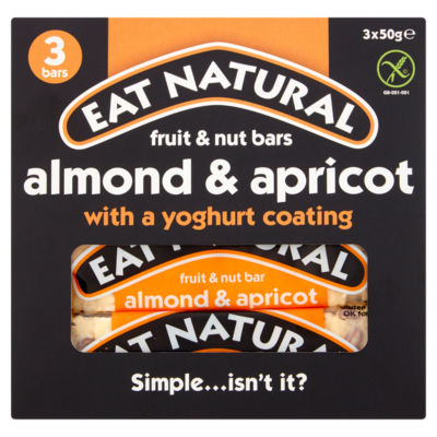 Eat Natural 3 Fruit & Nut Bars Almond & Apricot with a Yoghurt Coating