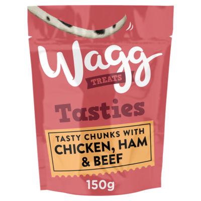 Wagg Tasty Chunks with Chicken, Ham & Beef Dog Treats