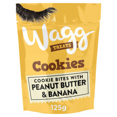 Wagg Cookies with Peanut Butter & Banana Dog Treats