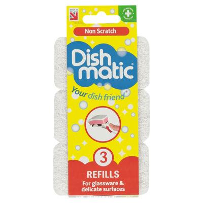 Dishmatic Non Scratch Refills 3 Pack