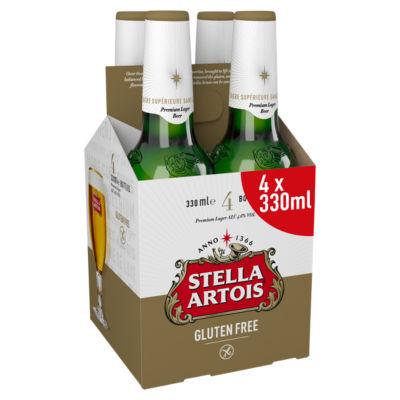 Stella Artois Gluten Free Premium Lager 4 Pack