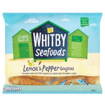 Whitby Seafoods Lemon & Pepper Breaded Fish Goujons