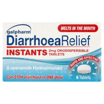 Galpharm Diarrhoea Relief Instants 2mg Orodispersible Tablets