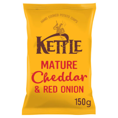Kettle Chips Mature Cheddar & Red Onion Sharing Crisps