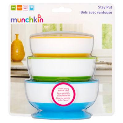 Munchkin 3 Stay-Put Suction Bowls 6m+