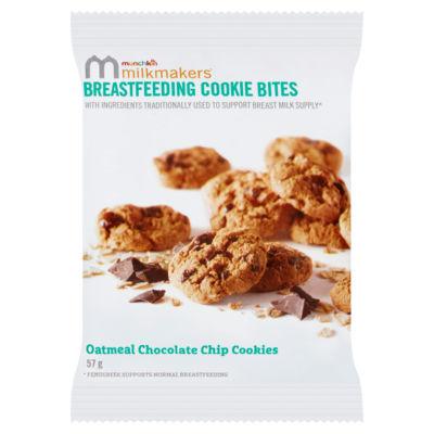 Munchkin Milkmakers Oatmeal Chocolate Chip Breastfeeding Cookie Bites - 1x bag of cookie bites