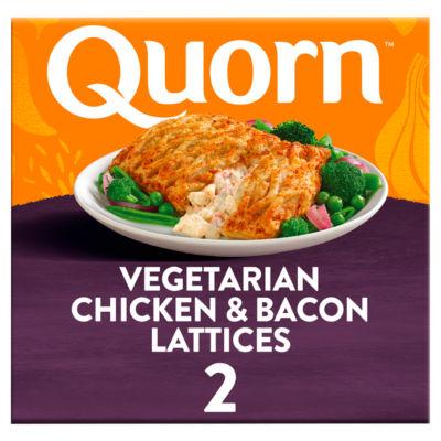 Quorn Meat Free 2 Vegetarian Chicken & Bacon Lattice