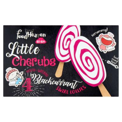 Food Heaven Little Cherubs 4 Dairy Free Swirl Blackcurrant Ice Lollies