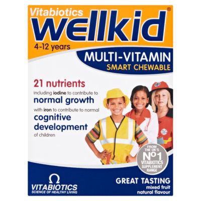 Vitabiotics WellKid Multi-Vitamin Smart Chewable 4-12 Years Chewable Tablets