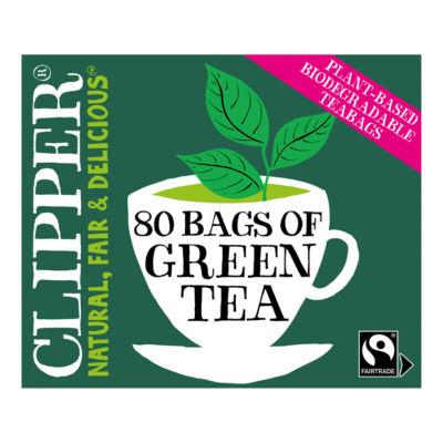 Clipper Fairtrade Pure Green Tea 80 Tea Bags