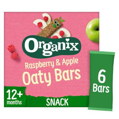 Organix Raspberry & Apple Organic Soft Oat Snack Bars Multipack 6x30g