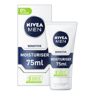 Nivea Men Sensitive Face Moisturiser With 0% Alcohol