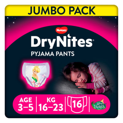 Huggies DryNites Pyjama Pants Jumbo Girl 3-5 Years (16-23kg)