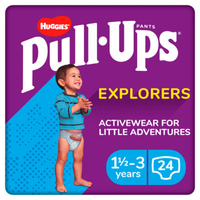Huggies Pull-Ups Explorers, Boy, Size 1.5-3 Years, Nappy Size 4-5+