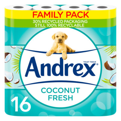 Andrex Coconut Fresh 16 Rolls