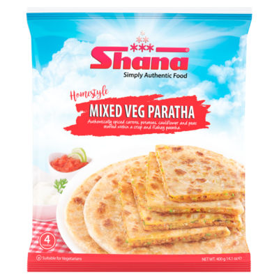Shana 4 Homestyle Mixed Veg Stuffed Paratha Pieces