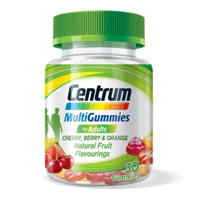 Centrum MultiGummies for Adults Cherry, Berry & Orange 30 Gummies